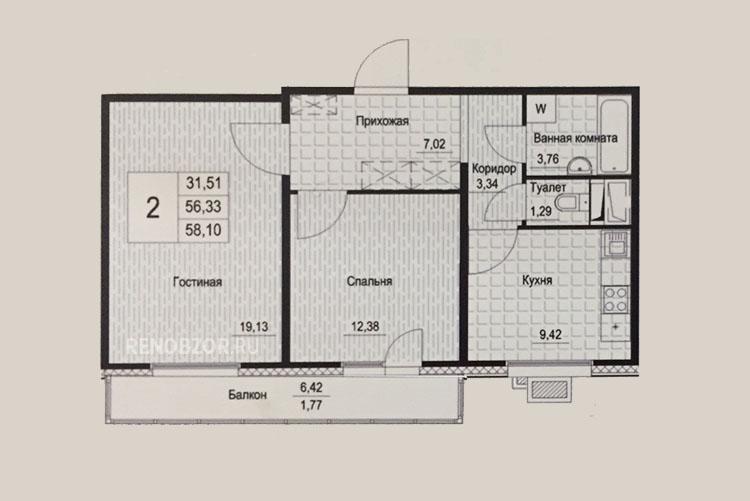 Планировка квартир по программе реновации в Москве_2