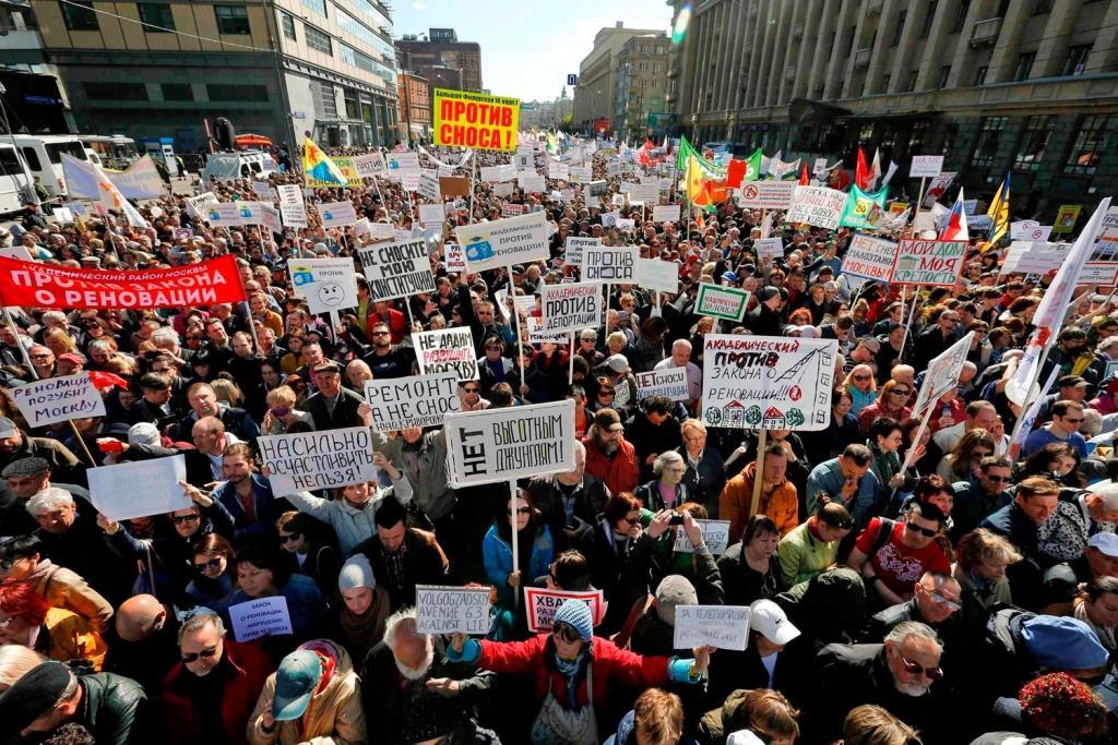 Митинг против реновации в Москве